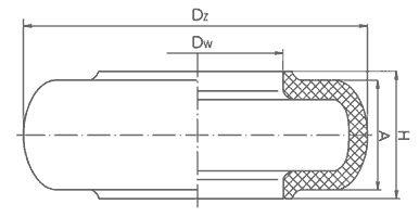 Kavrama Flender Kaplin Lastiği Teknik Resim